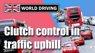 Clutch Control In Traffic Uphill - Learning To Drive A Manual / Stick Shift Car