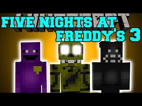 Minecraft: FIVE NIGHTS AT FREDDY'S 3 MOD (NEW ANIMATRONICS & PURE EVIL!) Mod Showcase