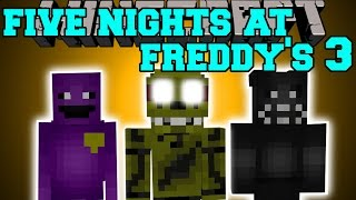 Minecraft: FIVE NIGHTS AT FREDDY'S 3 MOD (NEW ANIMATRONICS & PURE EVIL!) Mod Showcase