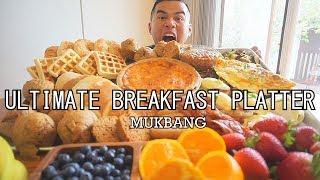 ULTIMATE Breakfast Platter | MUKBANG | QT | BIGGEST BREAKFAST EVER COOKED CHALLENGE!