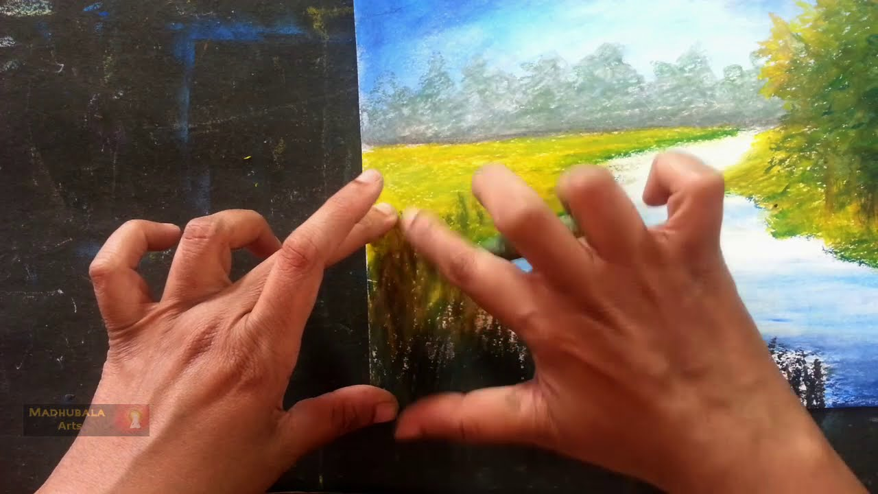 pastel painting impasto landscape step by step tutorial by madhubala arts