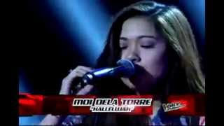 """Moi Dela Torre """"Hallelujah"""" -Blind Audition - The Voice PH"""