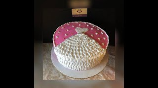 Como Decorar Un Bizcocho Simple De Despedida De Soltera /Simple Bridal Shower Cake #milkassweets