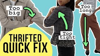 Thrifted Quick Fix | Enlarging Sleeves That Are TOO SMALL