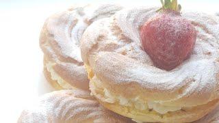 Заварные кольца с творожным кремом😋просто и вкусно😋custard rings with cottage cheese cream