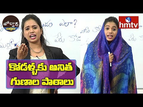 Crazy Girl Anitha Comedy | Anitha Lessons to Daughter-In-Law | Jordar News | hmtv