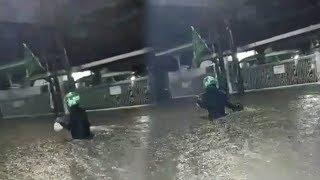 Viral Video Driver Ojol Terjang Banjir Demi Antarakan Orderan Makanan