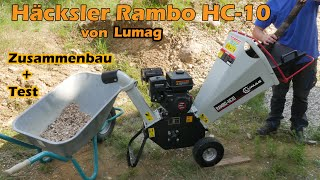 Lumag Häcksler Rambo HC10 unboxing, Zusammenbau, Test I Gartenhäcksler