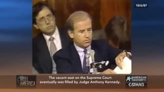 Bork Supreme Court Nomination Senate Judiciary Committee Vote