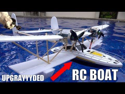 FLYING Walmart RC boat MODS!!!