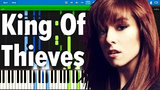 Christina Grimmie - King Of Thieves | Synthesia piano tutorial