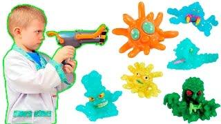 Видео для детей Доктор Даник борется с Микробами Фунгус Амунгус с помощью  Бластера Поглотителя