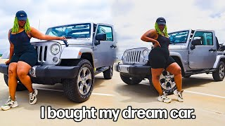 I FINALLY GOT MY DREAM CAR!!!! | Jeep Wrangler Unlimited Sahara Car Tour