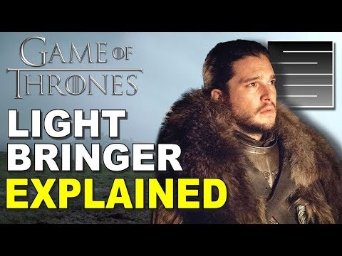 Lightbringer is NOT A Sword - Game Of Thrones Season 8 Predictions / Theory