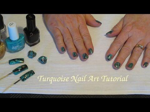 Asmr Turquoise Gemstone Nail Art Tutorialopening Gift