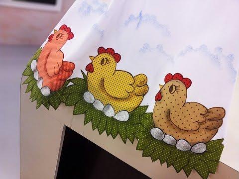 Pano de copa galinhas