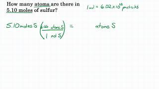 Convert Moles To Particles - Practice - 1
