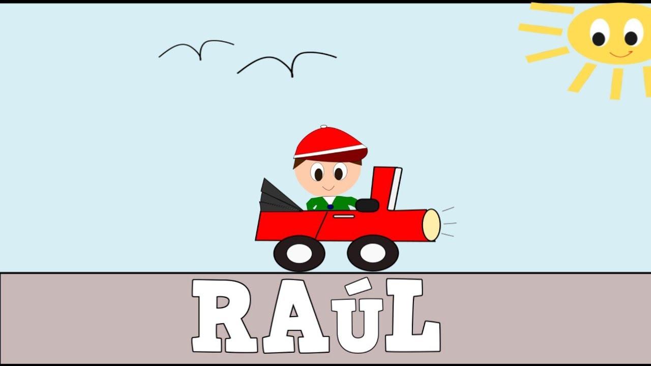 Aprender a Leer y Escribir RAÚL - Vídeos educativos para Niñosy Bebés - Paty y Poty