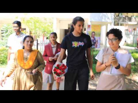 Students interview P V Sindhu at Suchitra Academy
