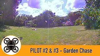 Game of Drones, Pilots #2 and #3 FPV - Diatone R249 and TinyHawk 2 chase each other.
