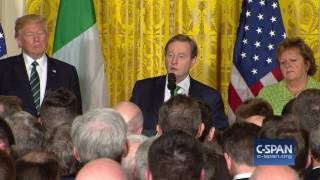 """Irish Prime Minister: """"We were the wretched refuse on the teeming shore."""" (C-SPAN)"""