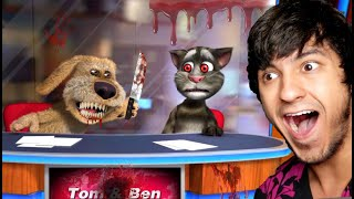 Testing The Creepy TALKING TOM AND TALKING BEN App For The 1st Time..