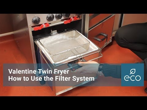 How to use and clean the Valentine Fryer Filter System