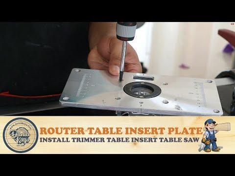 Video and mp3 router table toutestin membuat pasang plat mesin profil trimmer di meja install router table insert plate table greentooth Gallery
