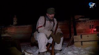 У новгородского кремля разбили лагеря солдаты вермахта