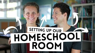 LIVING THE WAY Vlog // Setting Up Our Homeschool Room