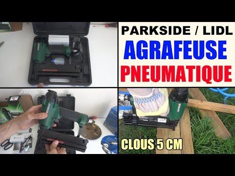 agrafeuse pneumatique air comprime parkside lidl pdt 40 d3 - pneumatic stapler - druckluft-tacker