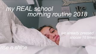 My REAL School Morning Routine 2018