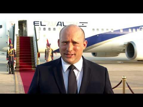 צפו: בנט סיים ביקור במצרים