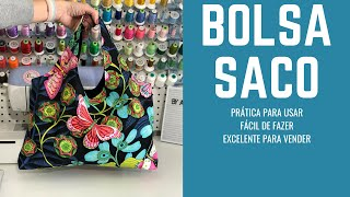 DIY Bolsa Saco - DIY Easy Fabric Bag - Free Pattern