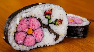 How to Make Flower Sushi Art - Amazing Food Recipe