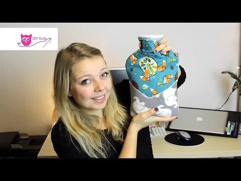 Hülle für Wärmflasche nähen – DIY Eule