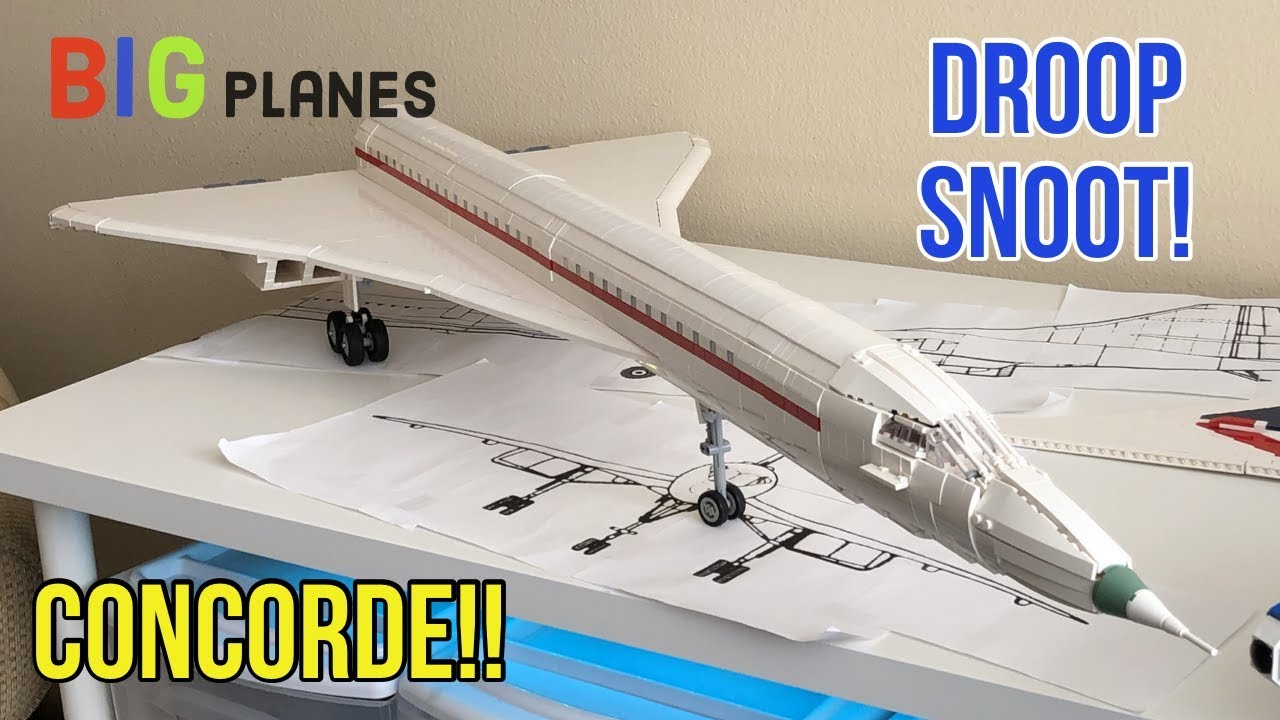 """LEGO Concorde!! """"Droop Snoot"""" Nose and More!!"""