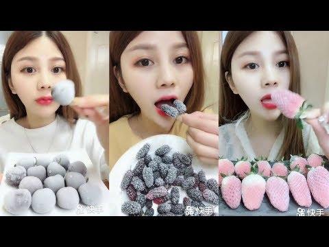 Donmuş Meyveler Yemek - ASMR #153 (Frozen Fruit Eating)