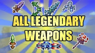 ALL LEGENDARY WEAPONS - Terraria CALAMITY Mod