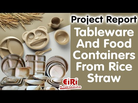 Project Report On Biodegradable Cups And Plates From Sugarcane Bagasse, Wood Pulp Or Bamboo Pulp