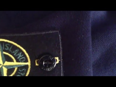 Real vs fake stone island badge and buttons