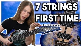 Playing 7 String Guitar for the First Time!