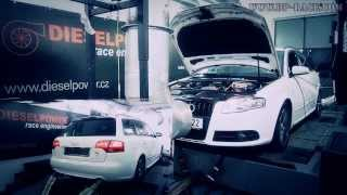 Audi A4 2.0TDI 170PS to 261PS @ 509Nm - DIESELPOWER dyno tuning: www.dp-race.com