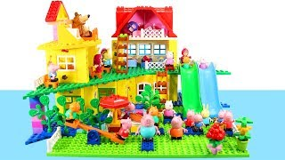 Peppa Pig House Construction Sets - Lego Duplo House Creations Toys For Kids #6