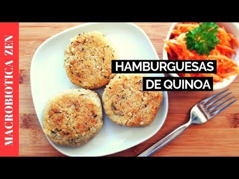 Hamburguesas de Quinoa | Receta con Quinoa 😍 MACROBIÓTICA