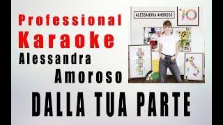 Dalla Tua Parte   Alessandra Amoroso KARAOKE Instrumental HQ Base Lyrics Artisti Online