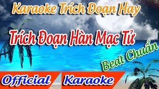 Trích Đoạn Hàn Mạc Tử Karaoke  | Tân Cổ Trích Đoạn Karaoke Beat.