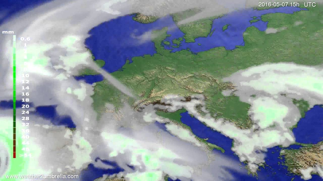 Precipitation forecast Europe 2016-05-05