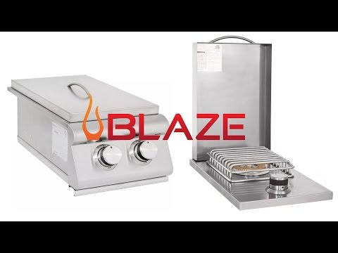 Blaze Double and Single Outdoor Sideburner Overview