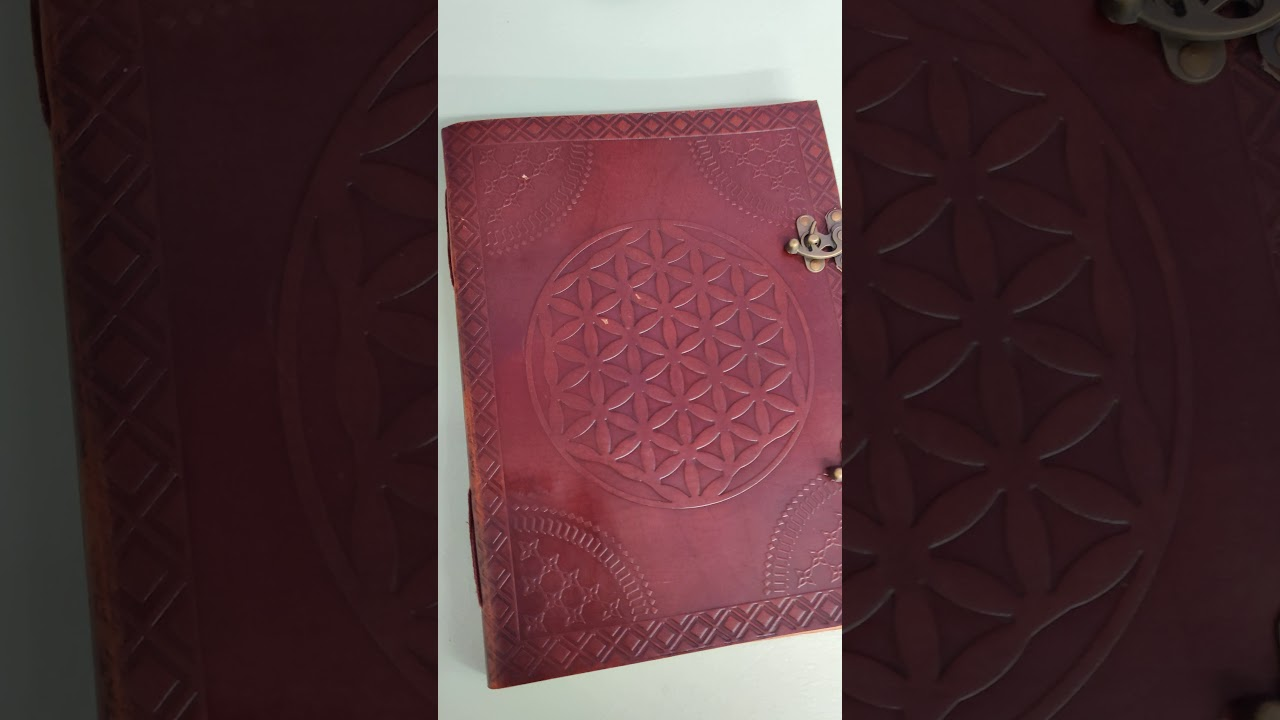 Big leather Notebook Flower of Life